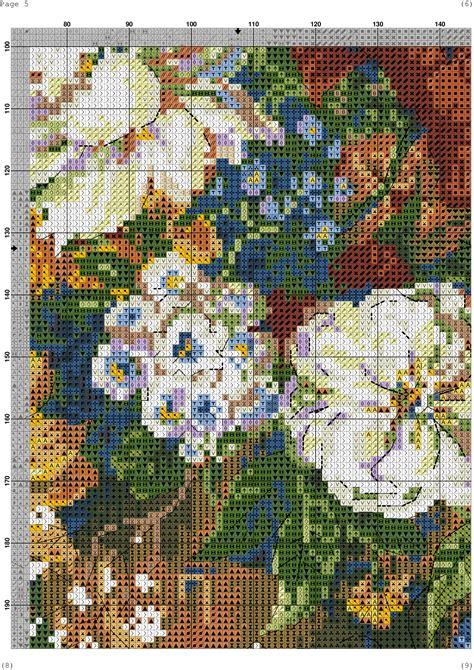 wildflowers  cross stitch pattern diy  ideas