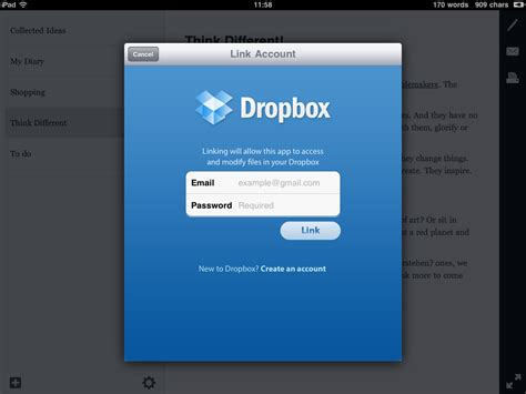 dropbox just says connecting essay for ipad review technoladget