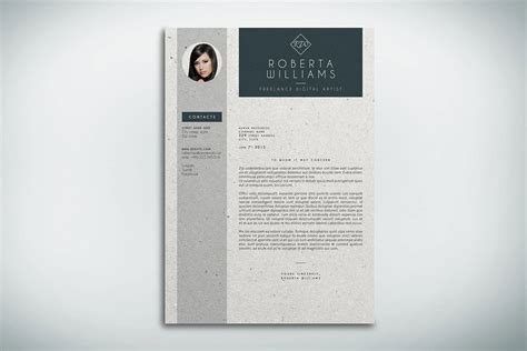 resume cv cover letter indesign template behance