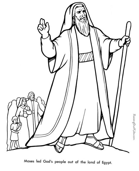 moses coloring pages coloring home
