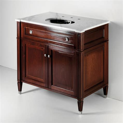 regent single wood vanity traditional bathroom