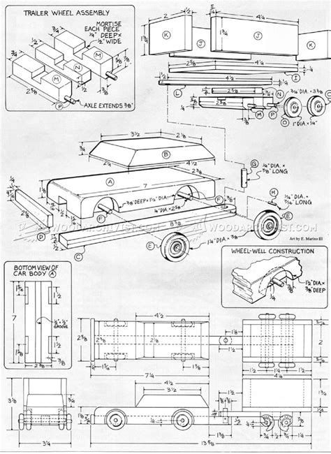 wooden car  trailer plans woodarchivist