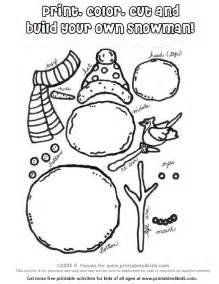 build snowman colouring pages