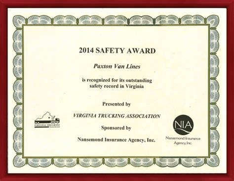 safety award certificate template safety award certificate sle choice image certificate