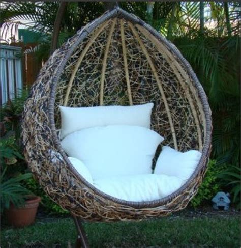 outdoor egg swing outdoor wicker swing chair home decorating ideas