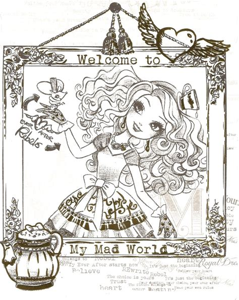 ever after high coloring pages cards all of ever after high coloring pages