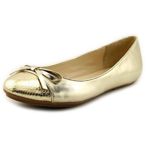 gold shoes flats isaac mizrahi piper leather gold flats flats