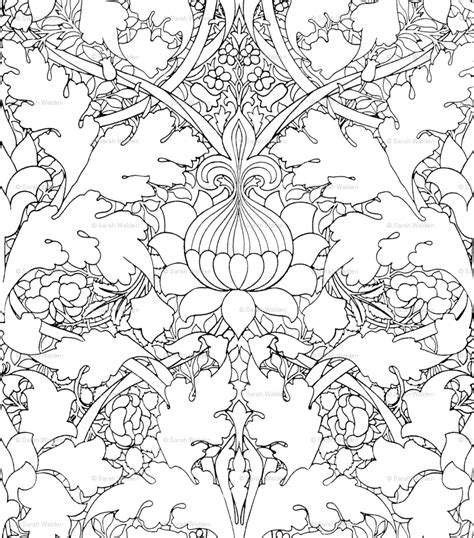 coloring page wallpaper free coloring pages of william morris