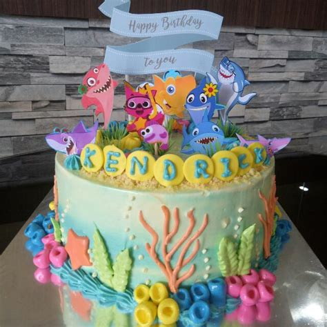 baby shark cake food drinks baked goods  carousell