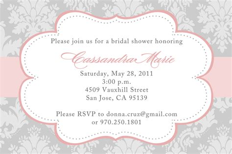 bridal shower card template free free wedding shower invitation templates weddingwoow