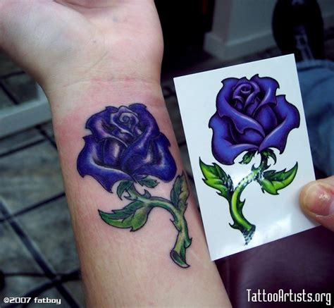 dark blue rose tattoo 32 fantastic flowers tattoos on wrists
