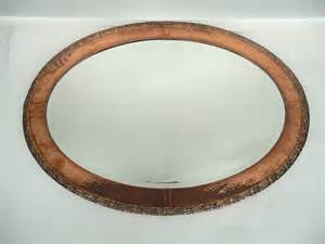Tennants auctioneers an arts amp crafts oval copper mirror