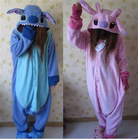 stitch costume animal kigurumi pajamas costume stitch onesuit blue stitch pink on storenvy