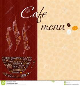 template of a cafe menu royalty free stock photos image