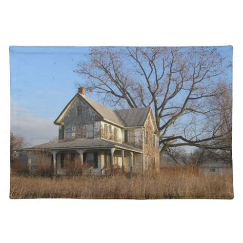 country farmhouse old country farmhouse placemat zazzle