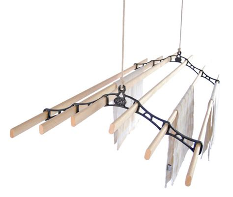 Ceiling Clothes Airer by Six Lath Ceiling Pulley Clothes Airer Kitchen Ebay
