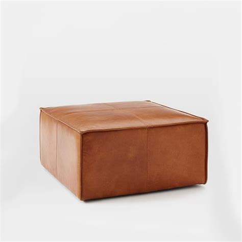 west elm storage ottoman 1000 ideas about leather ottoman on pinterest leather