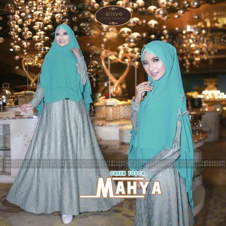 Syar I Mahya mahya green baju muslim gamis modern