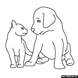 puppies kittens free coloring pages art coloring pages