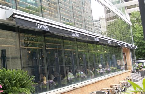 commercial awnings toronto trattoria mercatto eaton center rolltec 174 retractable