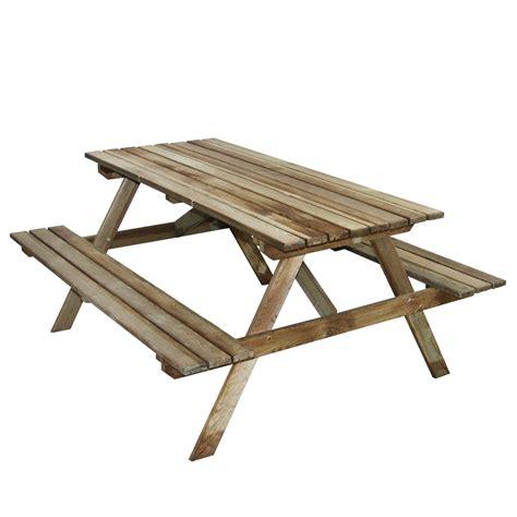 Table De Pique Nique Bois 7891 by Jardin Table Pique Nique Bois