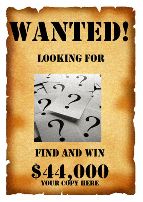 Wanted Poster Template Microsoft Word Templates Wanted Poster Template