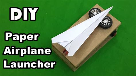 How To Make A Motorized Paper Airplane - how to make an electric paper airplane launcher at home