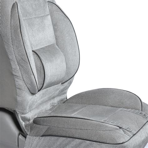 Driving Pillow Lumbar Support by New Backsaver Comfort Cushion Seat Cover With Built In