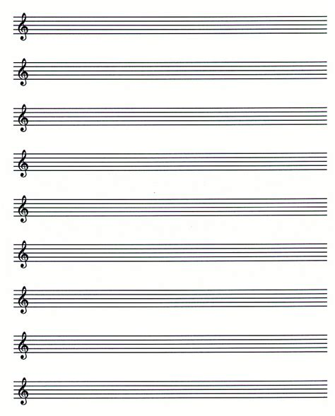 printable music staff paper blank music paper new calendar template site
