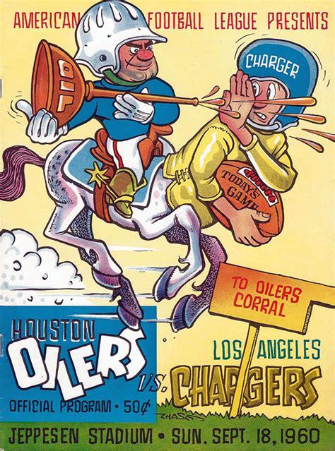 1960 los angeles chargers afl program houston oilers vs los angeles chargers