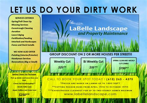 landscaping flyers templates couvers access ideas for landscaping flyers