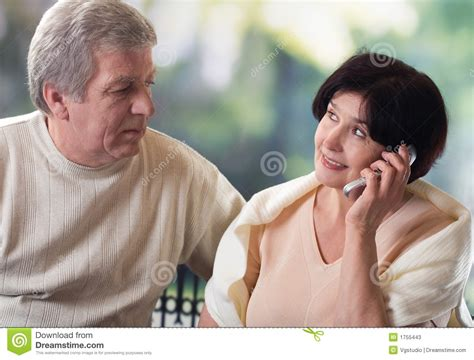 Phone For Couples Happy On Mobile Phone Stock Photos Image 1755443