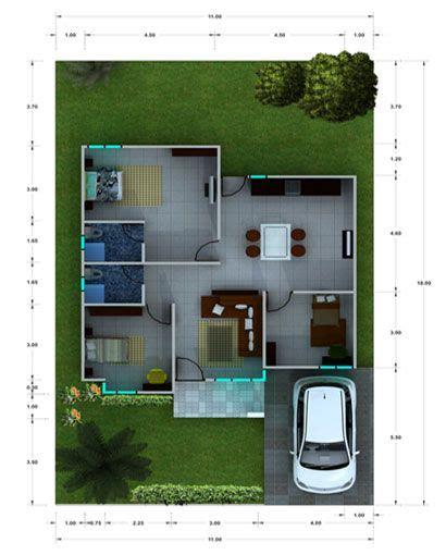 layout rumah kecil desain rumah mungil minimalis modern sketch my home