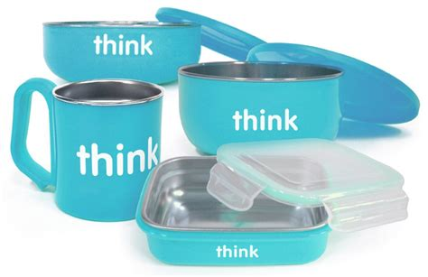 Kaos123 Think Trash Light Blue thinkbaby the complete bpa free feeding set in light