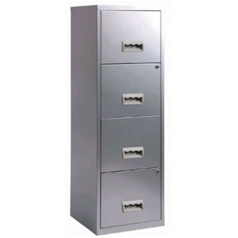 dark grey filing cabinet 4 drawer pierre henry steel silver grey lockable filing
