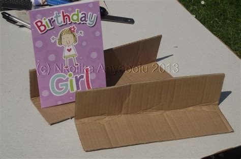 how to make a card stand of painting how to make a greeting card display stand