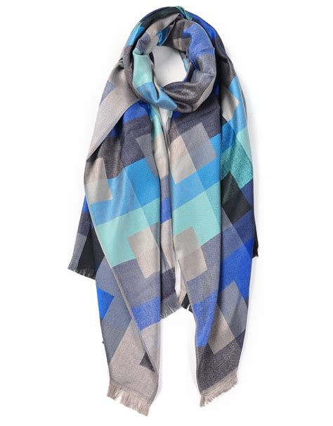 cool grids patterned printed scarf luxe wholesale