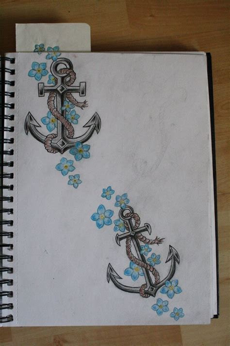 anchor down tattoo best 20 anchor flower tattoos ideas on