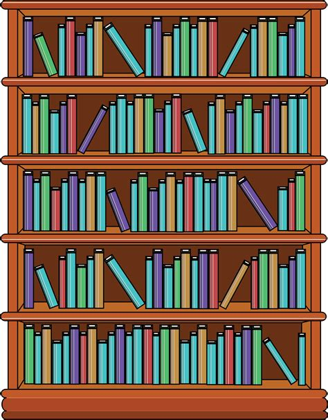 Bookshelf For Books by Clipart Bookshelf With Books