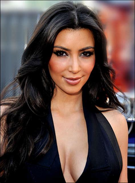 kim kardashian layered haircut