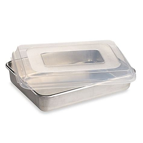 Bima Baking Pan Aluminium nordic ware 174 9 inch x 13 inch aluminum cake pan with lid bed bath beyond