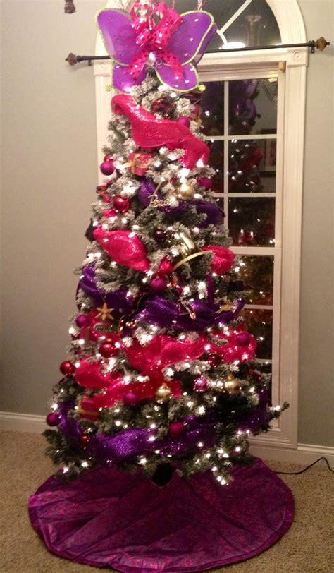 purple pink christmas tree christmas ideas pinterest
