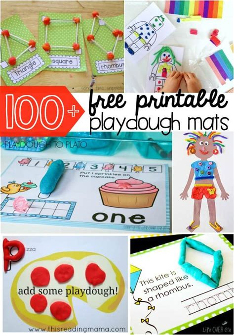 playdough templates 100 free playdough mats playdough to plato
