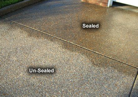 Patio Slab Sealer Wet Look by Wet Look Acrylic Sealer On Aggregate Concrete Exterior