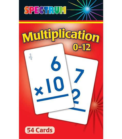printable flash cards multiplication 0 12 multiplication 0 12 flash cards carson dellosa publishing
