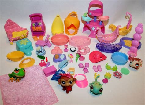 Pet Accessories 57 lot hasbro lps littlest pet shop pets