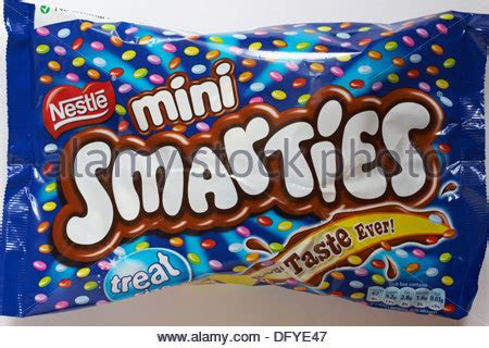 packet of smarties sweets stock photo, royalty free image