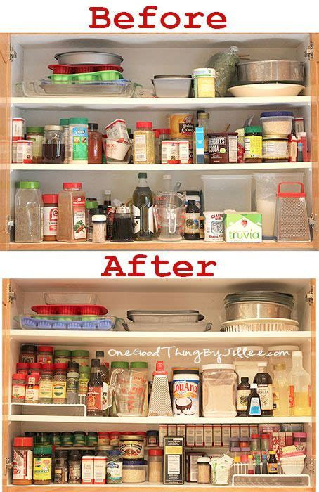 How To Organize Spice Cabinet by Spice Cabinet Makeover Cabinets Kitchen Organisation