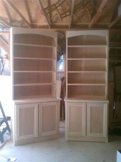 bookcases and base cabinets by firefighterontheside