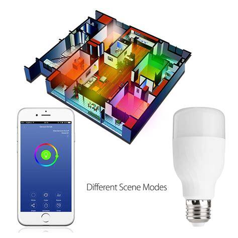 smart light bulbs google home e27 7w dimmable rgbw wifi app control led smart light